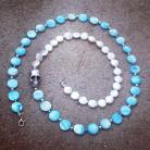 Blue Shell and Freshwater Pearl Necklace