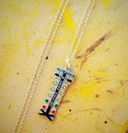 Christmas Tree Drag Race Necklace