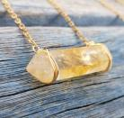 Citrine Crystal Necklace