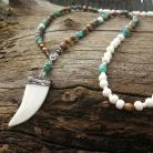 Turquoise Carved Bone Necklace