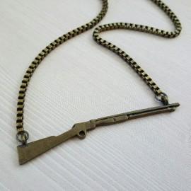 Brass Rifle Necklace