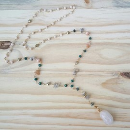 Quartz Crystal Stone Collection Necklace - One of a kind