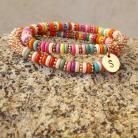 Rainbow Brite Initial Bracelet Set