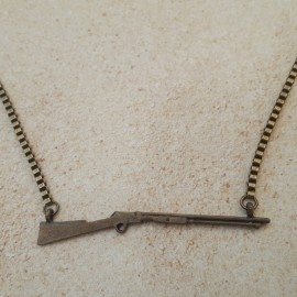 Brass Rifle Necklace
