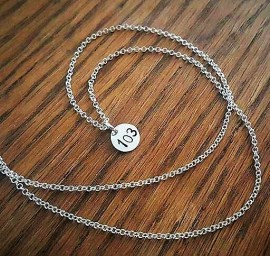 Silver Number/Initial Disc Necklace